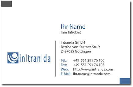 Jobs business card
