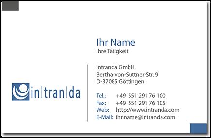 Jobs business card