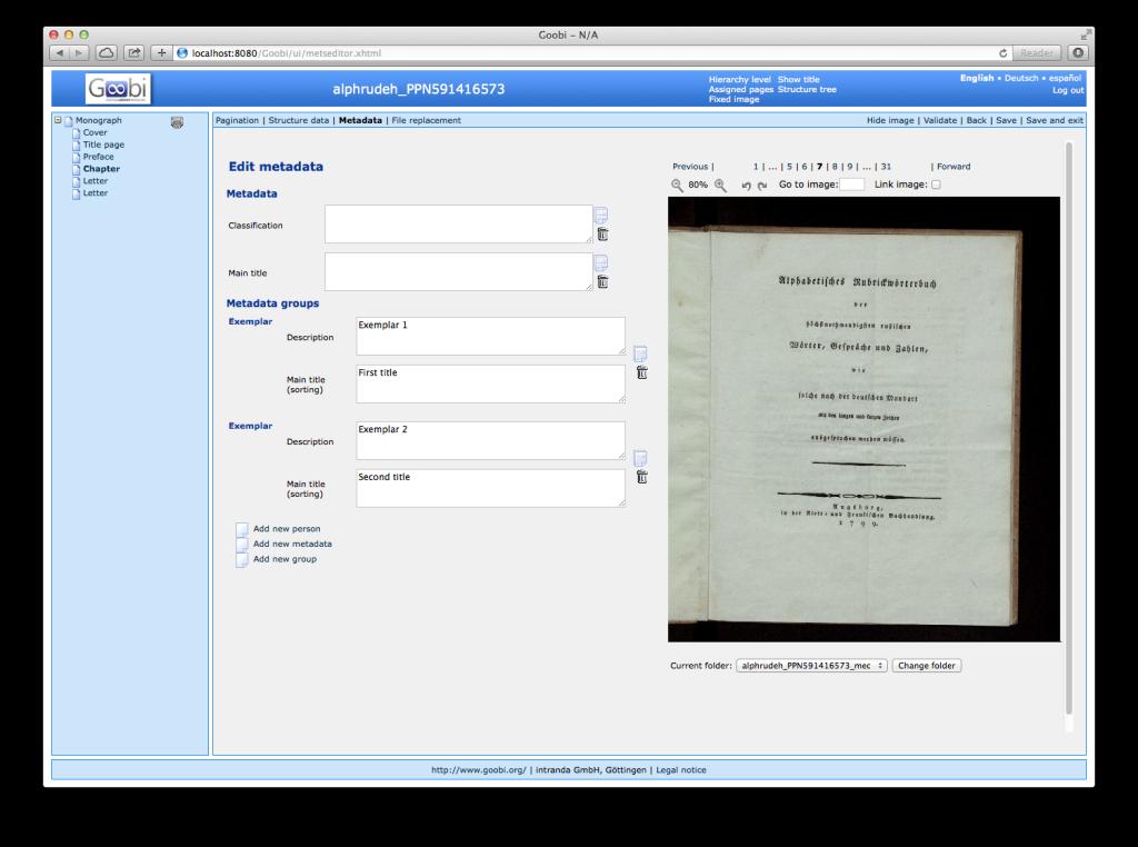Goobi 2.0 Release Notes Metadata Groups