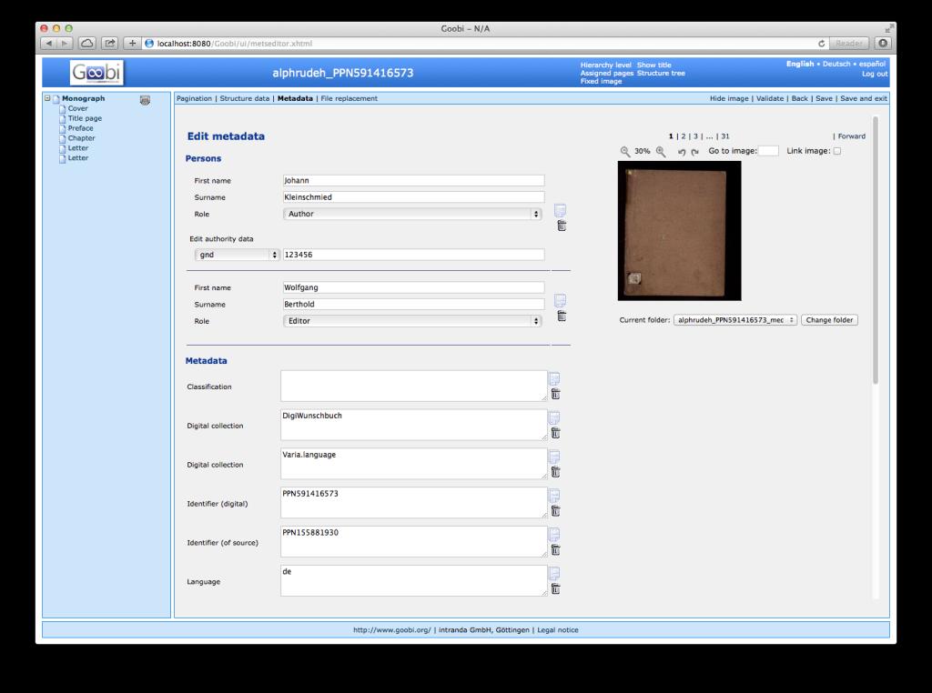 Goobi 2.0 Release Notes Authority File Data