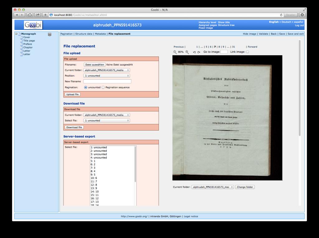 Goobi 2.0 Release Notes Image Import