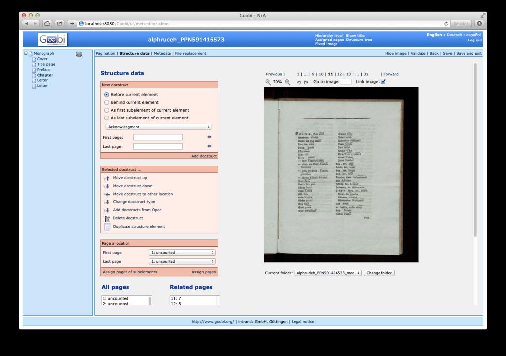 Goobi 2.0 Release Notes Duplicate Structure Elements