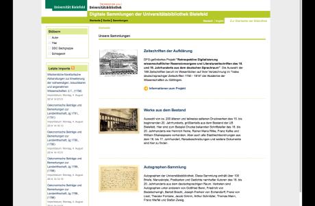 Goobi und intranda viewer in der Universitätsbibliothek Bielefeld