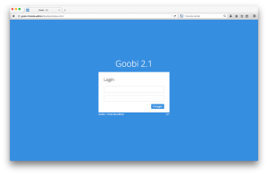 Der Login-Bildschirm von Goobi