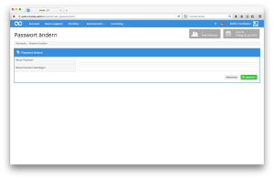 Die individuellen Benutzereinstellungen erlauben jedem Goobi-Nutzer die Änderung des eigenen Passworts.