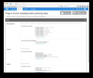 Anreicherung von Metadaten mit Normdaten als Goobi-Plugin mit eingebetteter Oberfläche