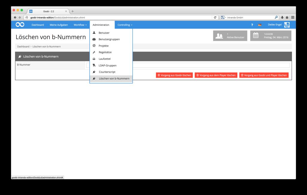 Steuerung von Workflows in Digitalisierungsprojekten - Goobi 2.2: Administration-Plugins für individuelle Arbeiten