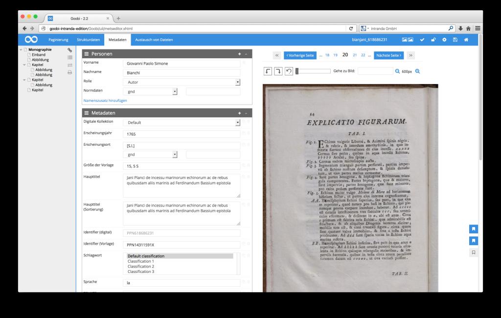 Steuerung von Workflows in Digitalisierungsprojekten - Goobi 2.2: Lesezeichen setzen im METS-Editor