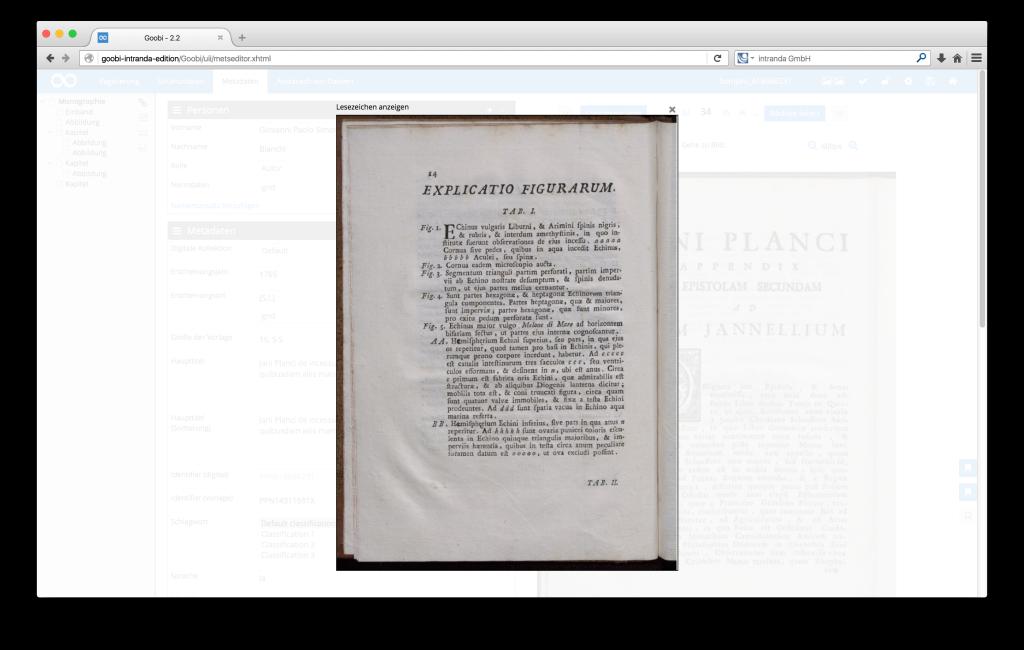 Steuerung von Workflows in Digitalisierungsprojekten - Goobi 2.2: Gesetztes Lesezeichen im METS-Editor von Goobi.Production jederzeit wieder anzeigen