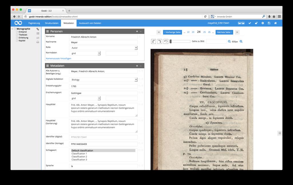 Steuerung von Workflows in Digitalisierungsprojekten - Goobi 2.2: Neue Bildanzeige im METS-Editor