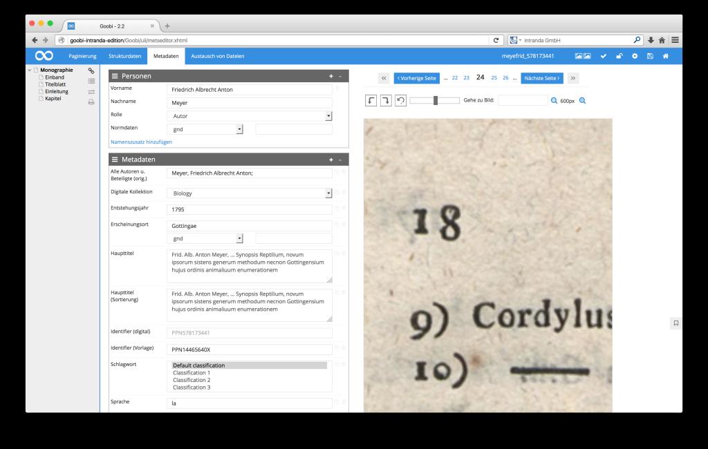 Steuerung von Workflows in Digitalisierungsprojekten - Goobi 2.2: Deep-Zoom in der Bildanzeige des METS-Editors