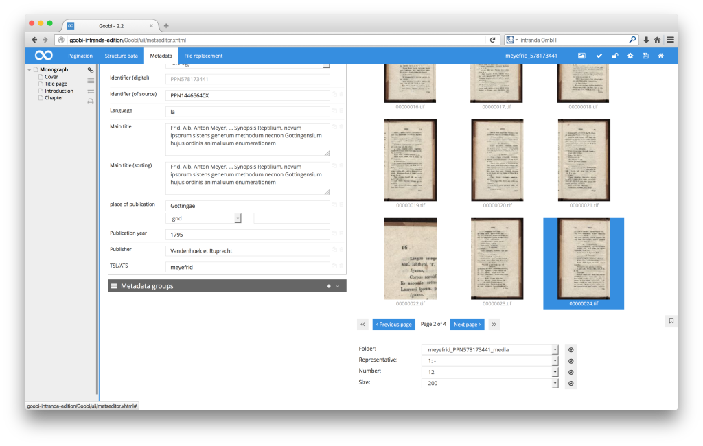 Workflow management for digitisation projects - Goobi 2.2: Dynamic zoom via thumbnails in the METS Editor page preview