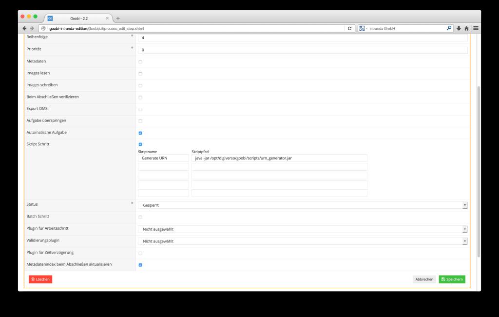 Steuerung von Workflows in Digitalisierungsprojekten - Goobi 2.2: Aktualisierung von Metadaten innerhalb des Suchindex nach Abschluss von Arbeitsschritten