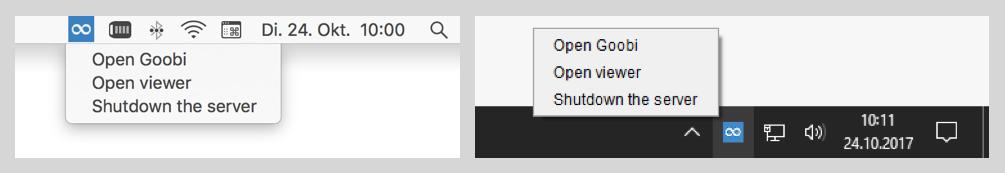 Goobi to go menu icon