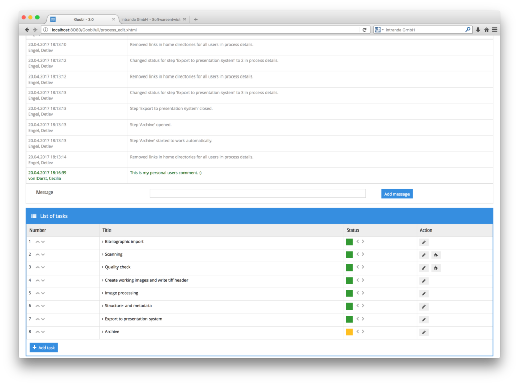 Digitisation workflow tracking software - Processlog 03