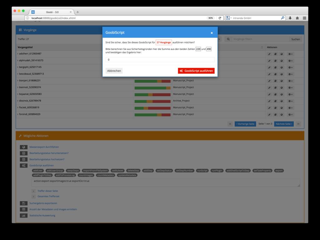 Goobi 3.0 - Erweiterung des GoobiScripts für bessere Sicherheit