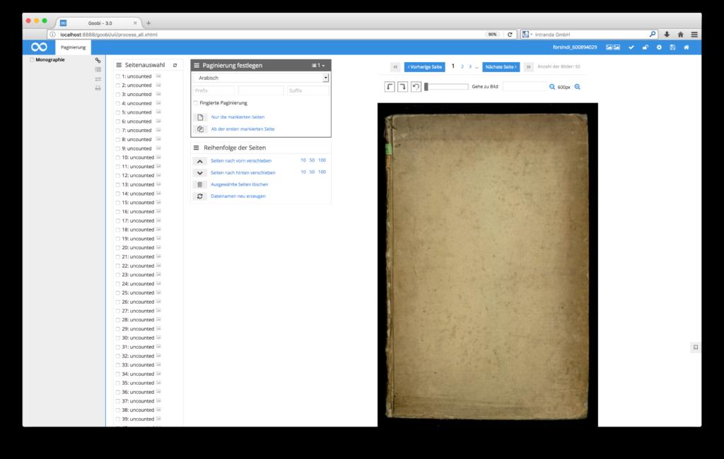 Goobi 3.0 - Paginierung, Strukturierung und Metadatenerfassung nun getrennt von einander