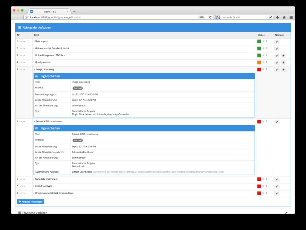 Goobi 3.0 - Übersichtlichere Details zu Arbeitsschritten des Digitalisierungsworkflows
