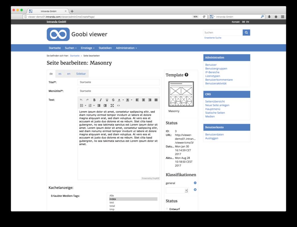 Goobi viewer 3.2 - Erweiterung für das Content Management der digitalen Sammlungen