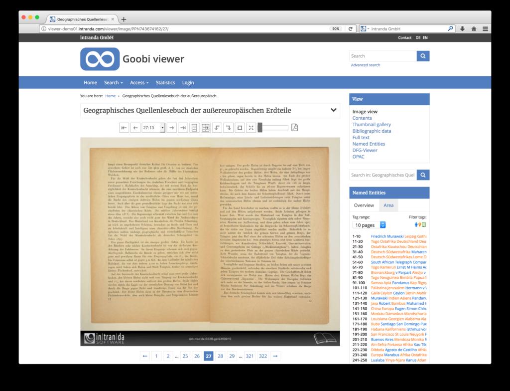 Goobi viewer 3.2 - Doppelseitenanzeige für Digitalisate