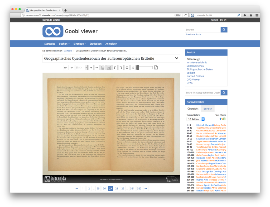 Goobi viewer 3.2 - Double-page view for digitised books