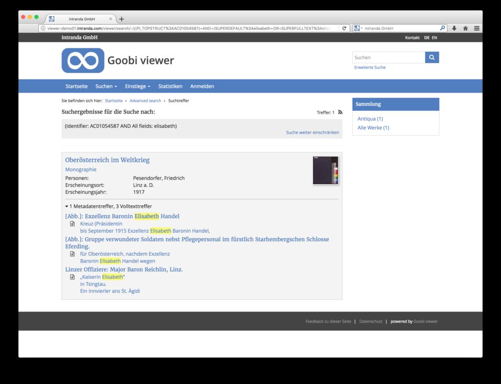 Goobi viewer 3.2 - Aggregierte Suchtrefferanzeige